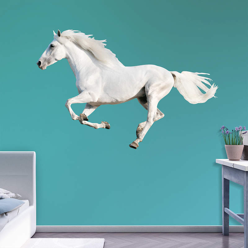 White Horse Running wall decal